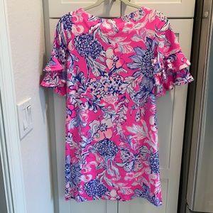 Lilly Pulitzer Dresses - Lilly Pulitzer Lula Dress Pink Tropics Sun Drench